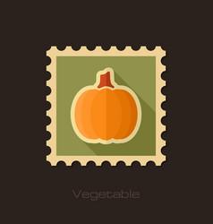 pumpkin flat stamp vegetable vector image