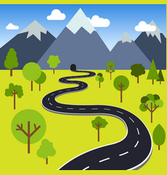 road to mountain tunnel vector image