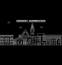 Saarbrucken silhouette skyline germany vector