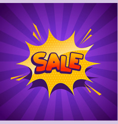 sale banner in comic style vector image
