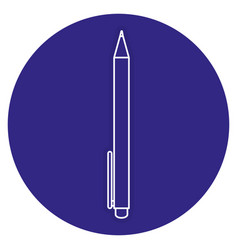 school pen isolated icon vector image