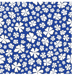 Seamless repeat pattern stylized white outlined vector