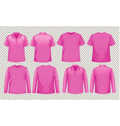 Set different types shirt in same color vector