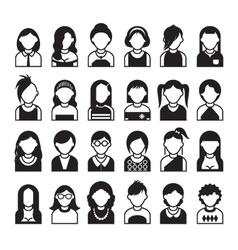 Set of flat people icons vector