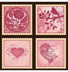Set romantic marks vector