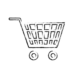 Shopping cart symbol vector