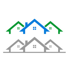 Simple house residential vector