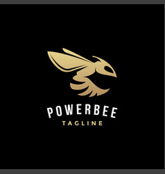 Simple powerful bee logo icon vector