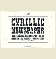 Slab serif font in the western style vector