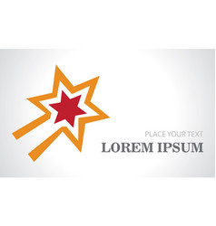 star light logo vector image