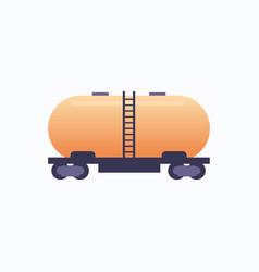 tank with liquid cylinder wagon icon railroad vector image