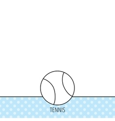 Tennis icon Sport ball sign vector image