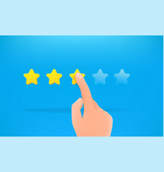 Three stars ranking man make a choice vector
