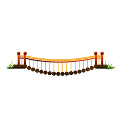 Town bridge icon cartoon style vector