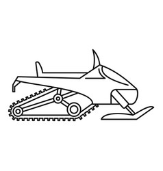 Winter snowmobile icon outline style vector