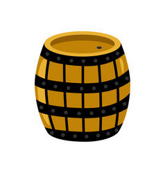 wooden rum barrel isolated icon vector image vector image