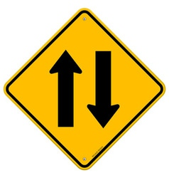 Yellow Sign Directional Arrows vector image