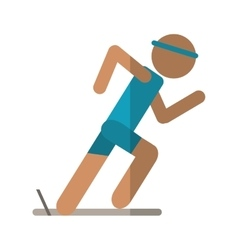 athletic runner sport active vector image