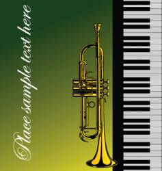 piano with trumpet vector image vector image