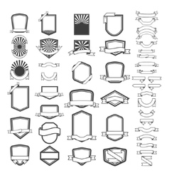 Set of empty emblems and labels templates Design vector image vector image