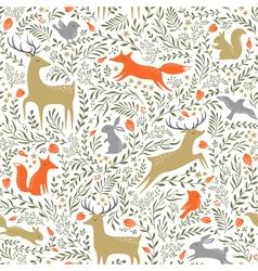 Summer woodland pattern vector image vector image