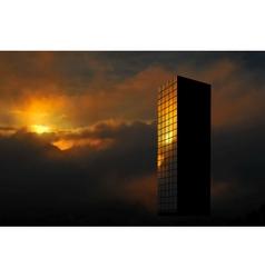 sunrise skyscraper vector image vector image
