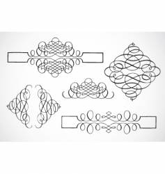 swirl frame pieces vector image