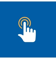touch icon vector image vector image