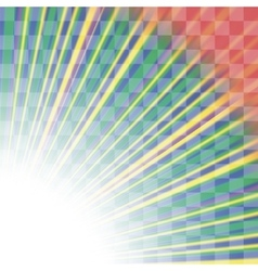 Transparent Colorful Rays Burst of Star vector image