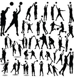 basketball player silhouette vector image