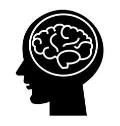 brain head - brainstorm in mind icon vector image vector image