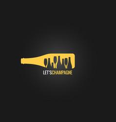 champagne bottle logo design background vector image vector image