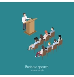 conference man speach vector image vector image
