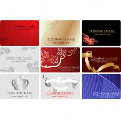 fashion business cards vector image vector image