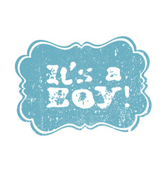 its a boy lettering its a girl lettering baby vector image vector image