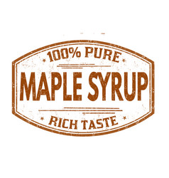 maple syrup grunge rubber stamp vector image vector image