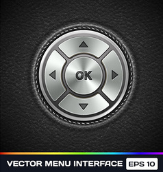 Menu Interface on Leather Background vector image vector image