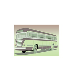 Old bus vector image vector image