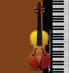 piano with violin vector image vector image