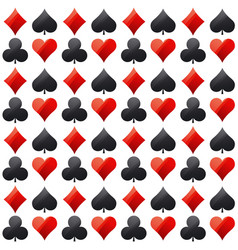 Seamless casino gambling poker background vector
