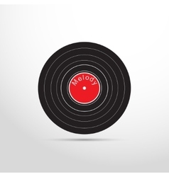 vinyl record web flat icon vector image