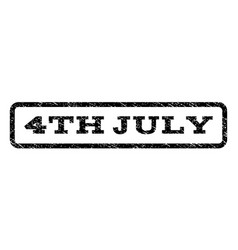 4th july watermark stamp vector image vector image