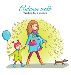 Autumn walk vector image