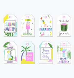 bright summer gift tags and labels vector image vector image