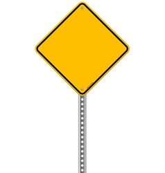 Empty Yellow Sign vector image vector image