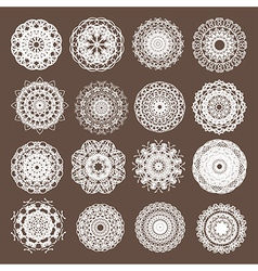 Round Lace Collection vector image