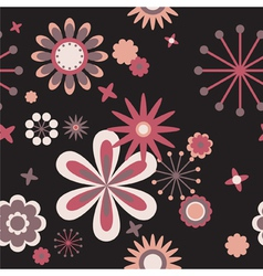 seamless floral pattern of flowers vector image vector image