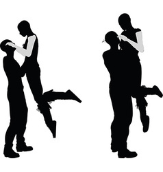 a couple silhouette vector image