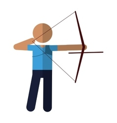 archery player aiming bow game vector image vector image