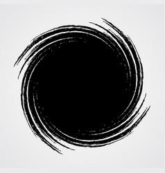 black spiral swirl circle vector image vector image
